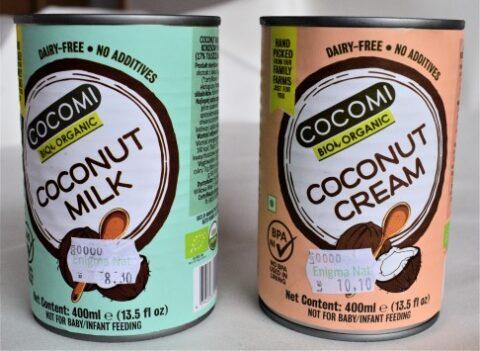 Conserva lapte de cocos si conserva crema de cocos