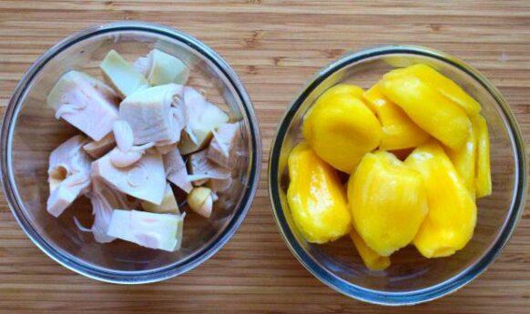 Jackfruit conservat vs jackfruit congelat