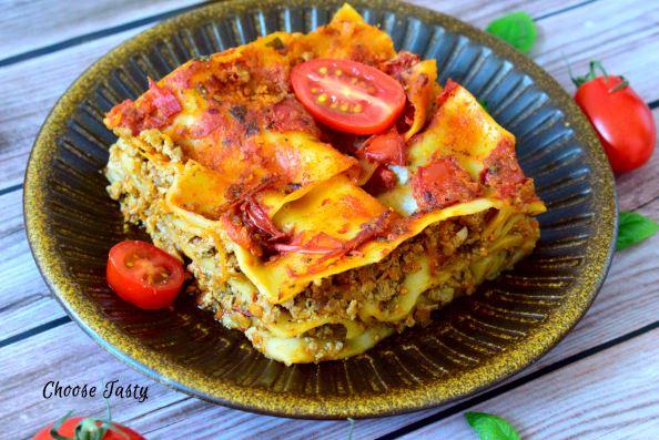 Lasagne cu minced tofu